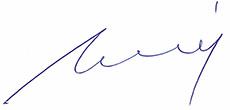 Traurig Unterschrift